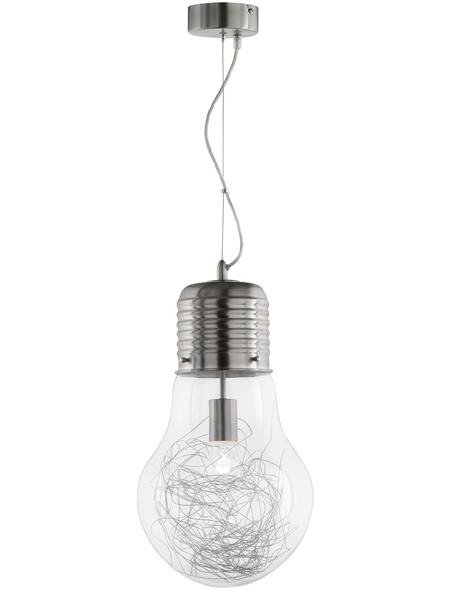 Pendelleuchte nickelfarben 60 W, 1-flammig, E27, ohne Leuchtmittel