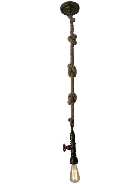 NÄVE Pendelleuchte »Regia« messingfarben 40 W, 1-flammig, E27, ohne Leuchtmittel