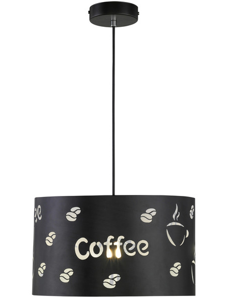 wofi® Pendelleuchte schwarz 60 W, 1-flammig, E27, ohne Leuchtmittel