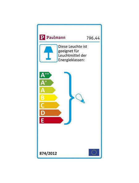 PAULMANN Pendelleuchte »Vanja« chromfarben/weiss_matt 20 W, E27, dimmbar, ohne Leuchtmittel