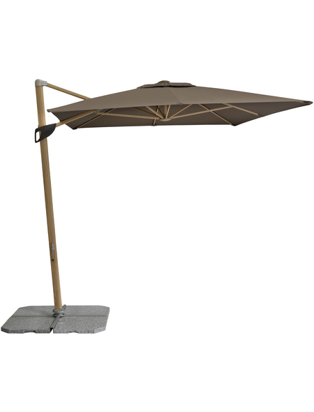 DOPPLER Pendelschirm »Alu Wood«, Sonnenschutzfaktor: 50+