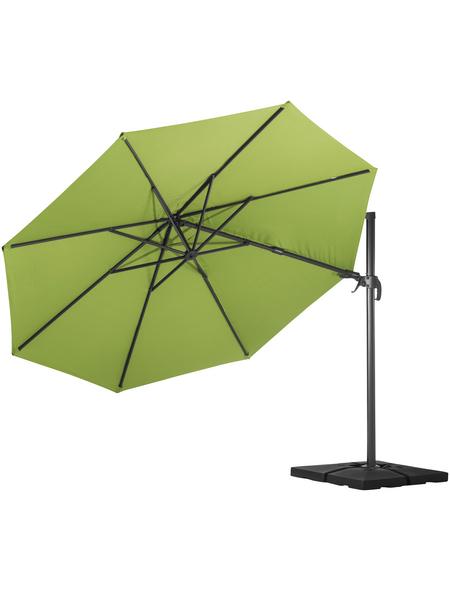 CASAYA Pendelschirm »Paros«, ØxH: 350 x 265 cm, Sonnenschutzfaktor: 80+
