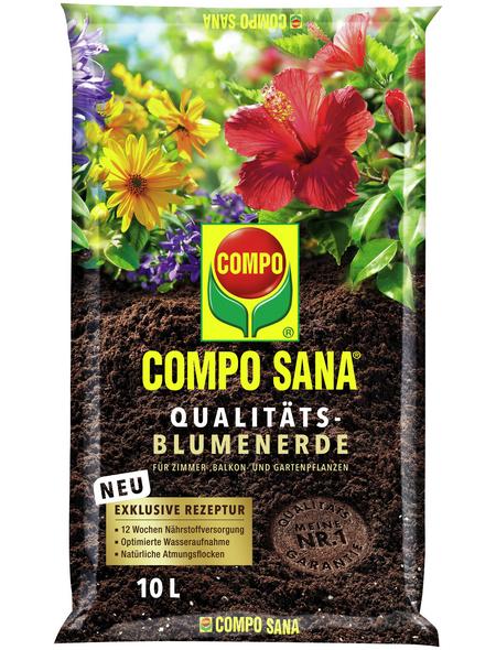 COMPO Pflanzenerde, 10 l, geeignet für: Blumen