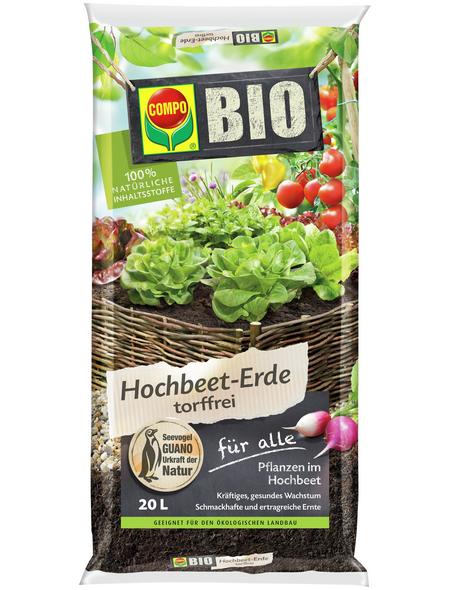COMPO Pflanzenerde, 20 l, geeignet für: Hochbeete