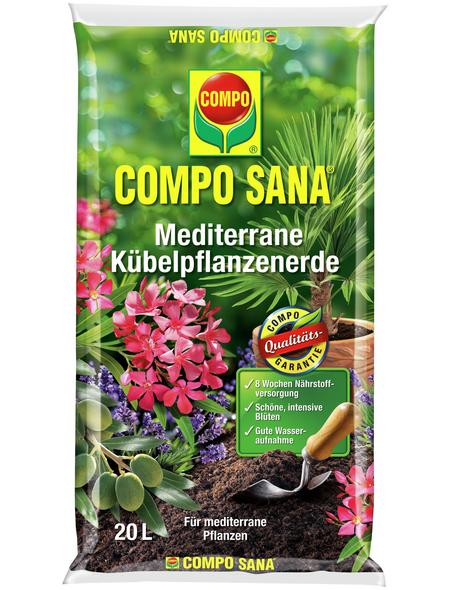 COMPO Pflanzenerde, 20 l, geeignet für: Mediterane Kübelpflanzen