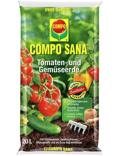 COMPO Pflanzenerde, 20 l, geeignet für: Tomaten und Gemüse