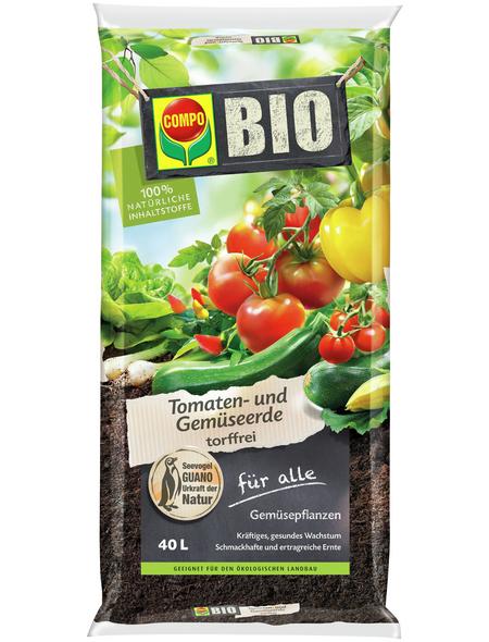 COMPO Pflanzenerde, 40 l, geeignet für: Gemüse