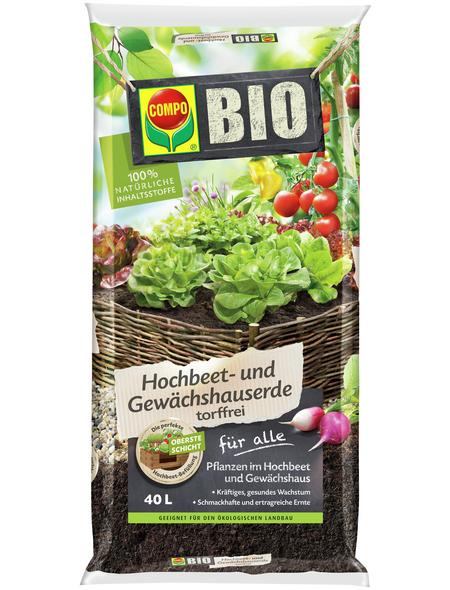 COMPO Pflanzenerde, 40 l, geeignet für: Hochbeete
