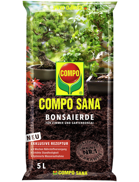 COMPO Pflanzenerde, 5 l, geeignet für: Bonsai