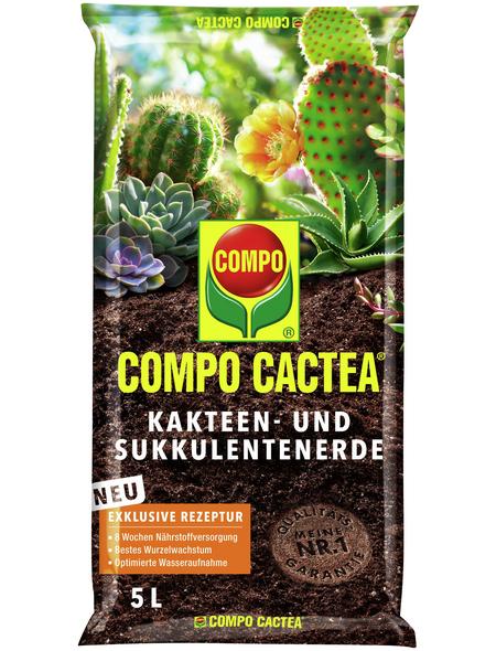 COMPO Pflanzenerde, 5 l, geeignet für: Kakteen und Sukkulenten
