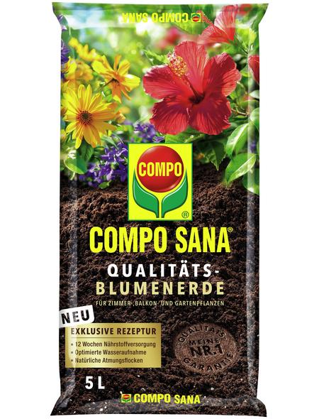 COMPO Pflanzenerde, 5 l, geeignet für: Zimmer-, Balkon- und Gartenpflanzen