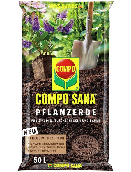 COMPO Pflanzenerde, 50 l, geeignet für: Pflanzung von Sträuchern, Bäumen und Stauden