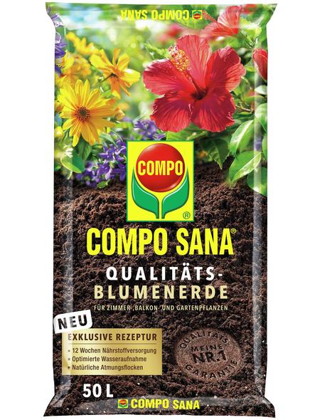 COMPO Pflanzenerde, 50 l, geeignet für: Zimmer-, Balkon- und Gartenpflanzen