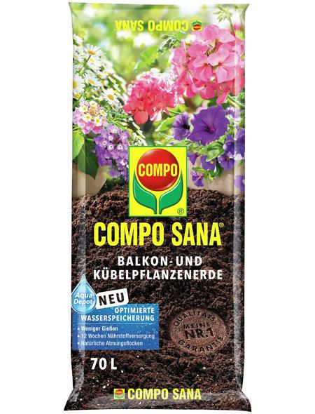 COMPO Pflanzenerde, 70 l, geeignet für: Balkon- und Kübelpflanzen