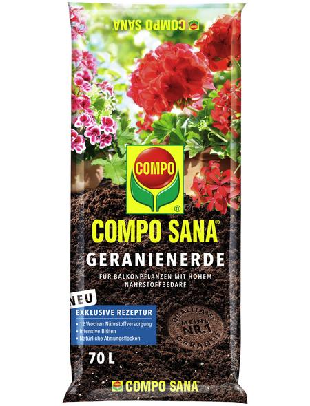 COMPO Pflanzenerde, 70 l, geeignet für: Geranien
