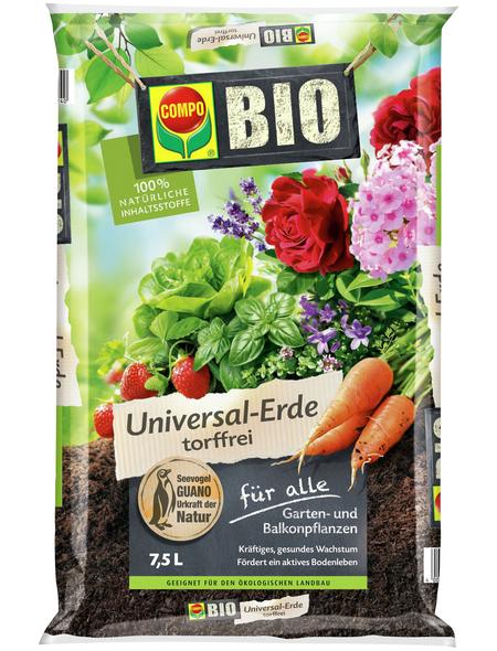 COMPO Pflanzenerde, 7,5 l, geeignet für: Garten- und Balkonpflanzen