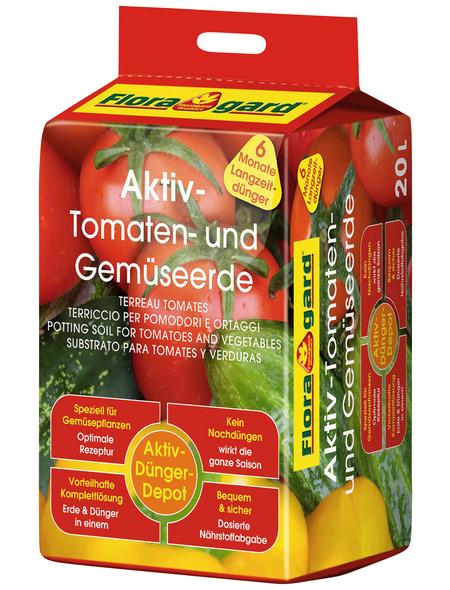 FLORAGARD Pflanzenerde »Aktiv«, für Tomaten und Gemüse