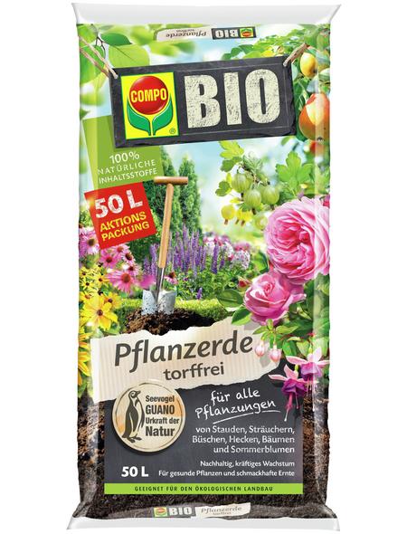 COMPO Pflanzenerde »COMPO BIO«, für Balkon- und Kübelpflanzen, torffrei