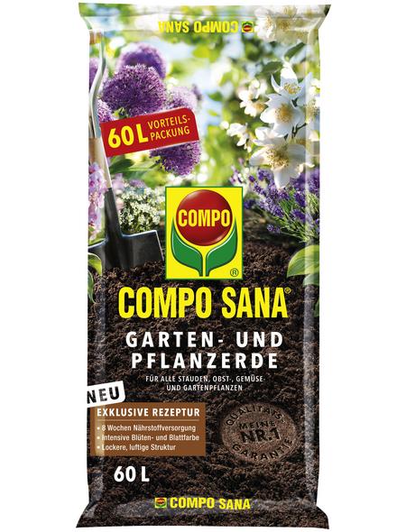 COMPO Pflanzenerde »COMPO SANA® «, für Gartenpflanzen im Boden oder in Kübeln