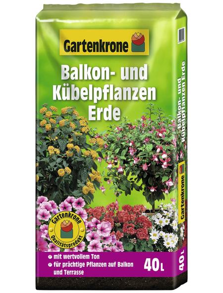 GARTENKRONE Pflanzenerde, für Balkon- und Kübelpflanzen