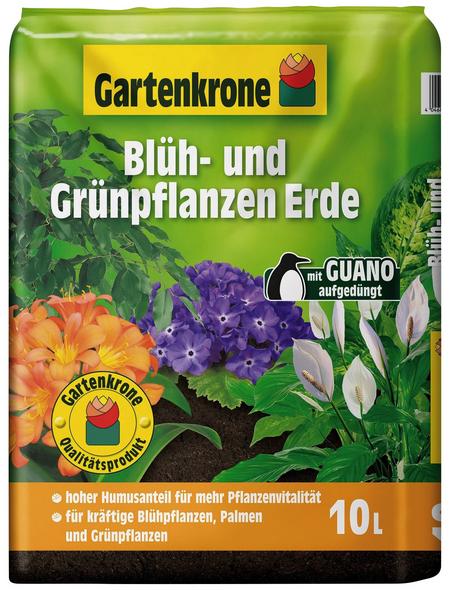 GARTENKRONE Pflanzenerde, für Blühpflanzen, Palmen und Grünpflanzen