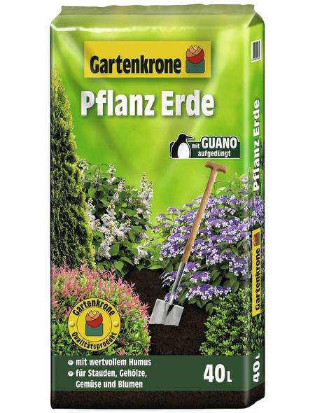 GARTENKRONE Pflanzenerde, für Stauden, Gehölze, Gemüse und Blumen
