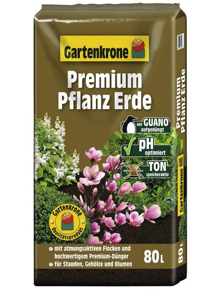 GARTENKRONE Pflanzenerde »Premium«, für Stauden, Gehölze, Blumen