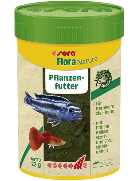 sera Pflanzenfutter »Flora Nature«, Aqua, 100ml, geeignet für Zierfische