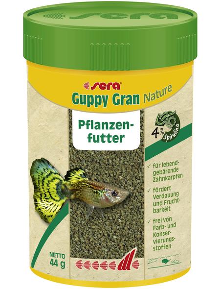 sera Pflanzenfutter »Guppy Gran Nature«, Aqua, 100 ml (44g), geeignet für Zierfische