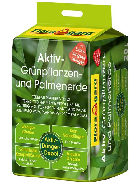 FLORAGARD Pflanzerde »Aktiv«, für Grünpflanzen, Palmen