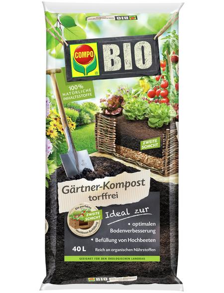 COMPO Pflanzerde »BIO«, 40 L, schützt vor Nährstoffmangel