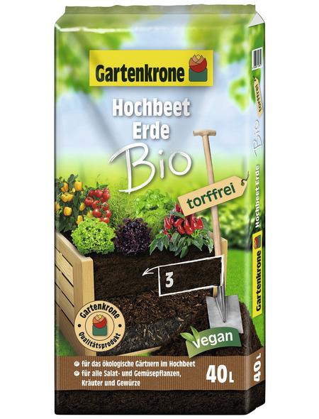 GARTENKRONE Pflanzerde »Bio«, für Hochbeete, torffrei