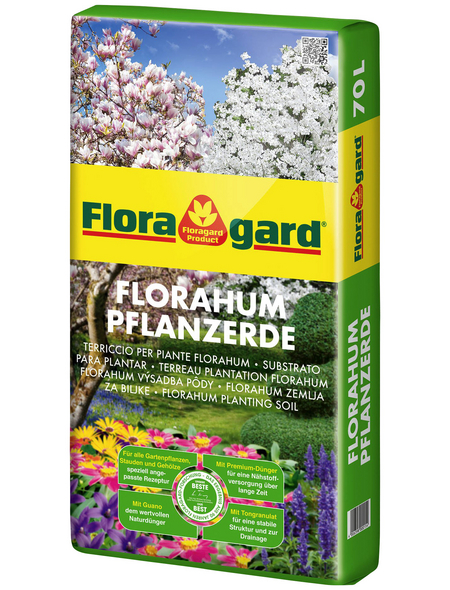 FLORAGARD Pflanzerde »Florahum®«, für Gartenpflanzen, Gemüse, Stauden