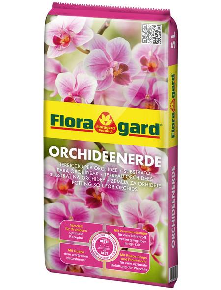 FLORAGARD Pflanzerde, für Orchideen, torffrei