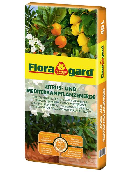 FLORAGARD Pflanzerde, für Zitruspflanzen und mediterrane Pflanzen