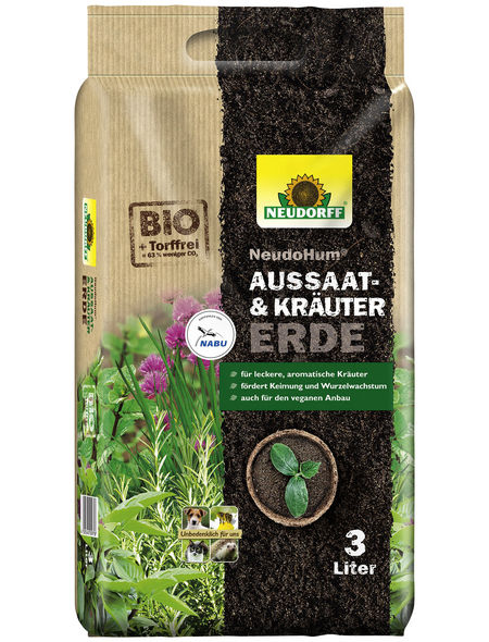 NEUDORFF Pflanzerde »NeudoHum«, für Aussaat & Kräuter, torffrei