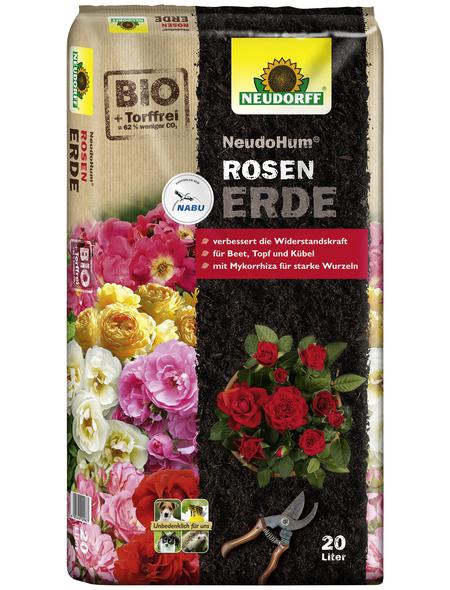 NEUDORFF Pflanzerde »NeudoHum«, für Rosengewächse im Freiland und Kübel, torffrei