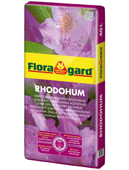 FLORAGARD Pflanzerde »Rhodohum«, für Rhododendren, Azaleen, Eriken, Kamelien und anderen Moorbeetpflanzen