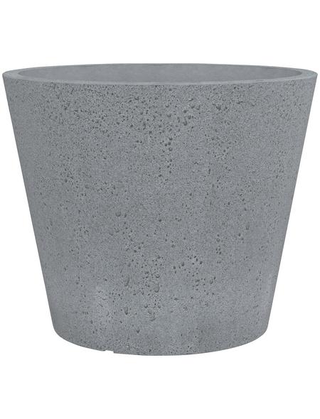 SCHEURICH Pflanzgefäß »C-CONE«, ØxH: 38,9 x 33,2 cm, grau