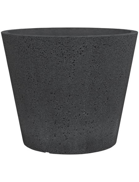 SCHEURICH Pflanzgefäß »C-CONE«, ØxH: 47,2 x 39,4 cm, schwarz