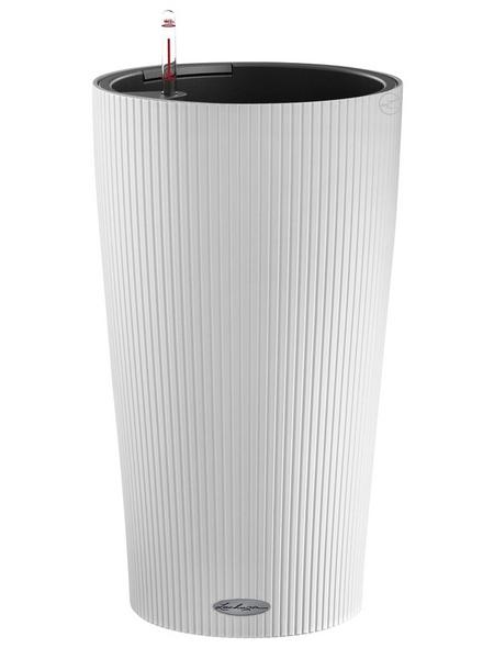 LECHUZA Pflanzgefäß »CILINDRO«, ØxH: 32 x 56 cm, weiß