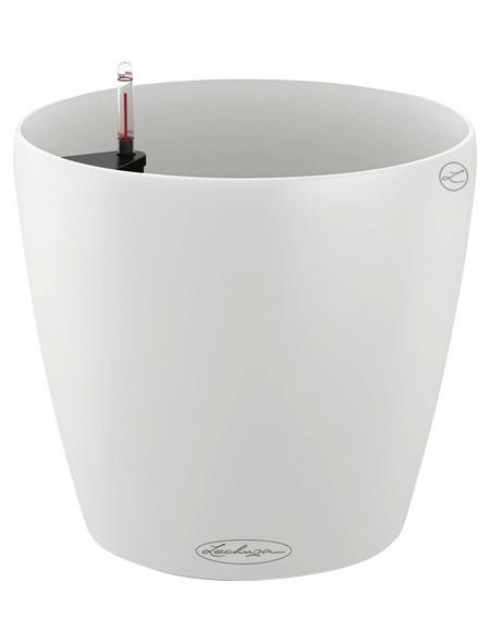 LECHUZA Pflanzgefäß »CLASSICO«, ØxH: 18 x 17 cm, weiß