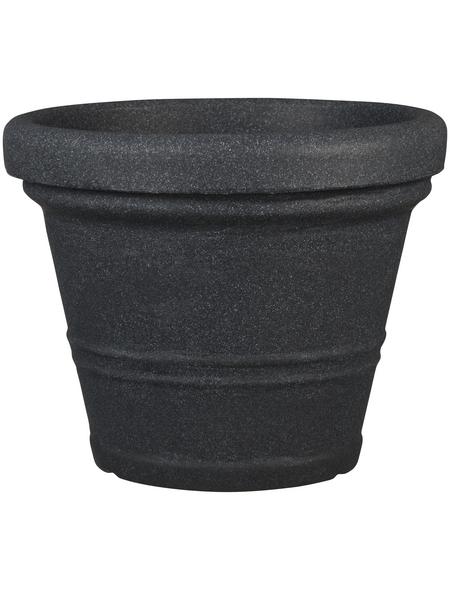 CASAYA Pflanzgefäß »CREMONA«, ØxH: 45 x 36 cm, schwarz