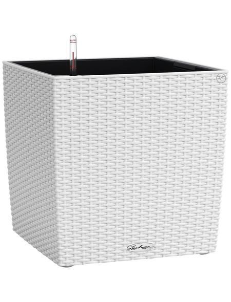 LECHUZA Pflanzgefäß »CUBE«, BxHxT: 30 x 30 x 31,5 cm, weiß