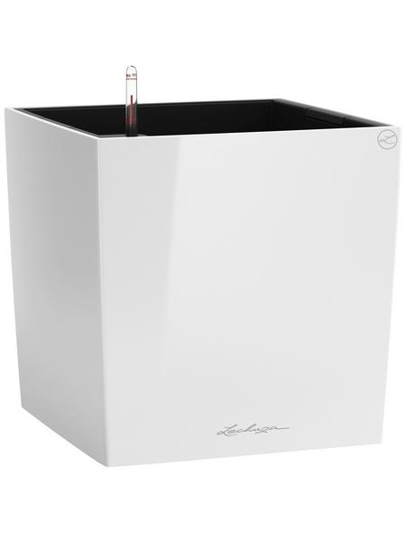 LECHUZA Pflanzgefäß »CUBE«, BxHxT: 30 x 30 x 31,5 cm, weiß hochglanz