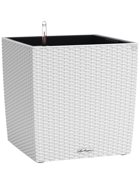 LECHUZA Pflanzgefäß »CUBE«, BxHxT: 40 x 40 x 40,5 cm, weiß