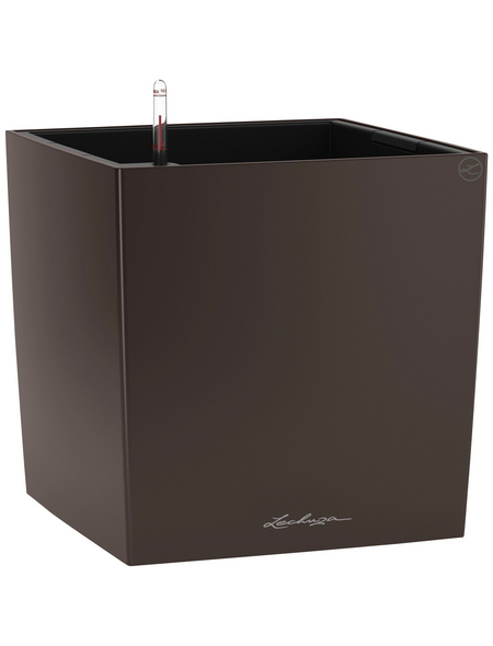 LECHUZA Pflanzgefäß »CUBE«, BxHxT: 40 x 40 x 40,7 cm, espresso metallic