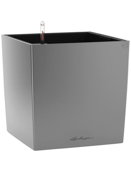 LECHUZA Pflanzgefäß »CUBE«, ØxH: 40 x 40 cm, silber-metallic