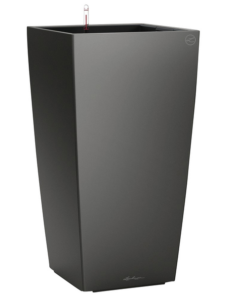 LECHUZA Pflanzgefäß »CUBICO«, BxHxT: 22 x 41 x 24 cm, anthrazit metallic