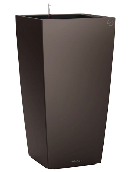 LECHUZA Pflanzgefäß »CUBICO«, BxHxT: 22 x 41 x 24 cm, espresso metallic